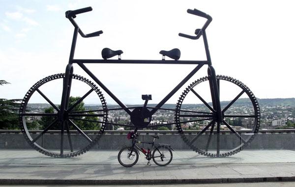 Veliki bicikl u Tbilsiju