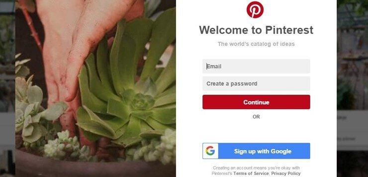 Pinterest pravljenje profila