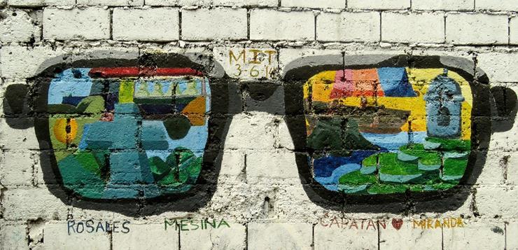 Grafit naočare na zidu
