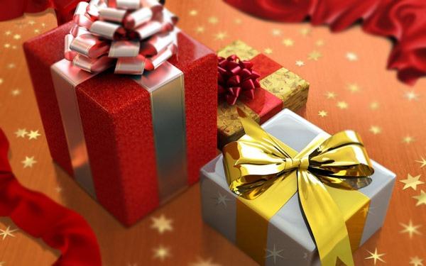 Pokloni, kutija, ukrasni papir, mašna.