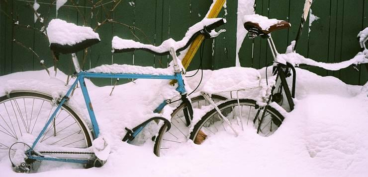 bicikli u snegu