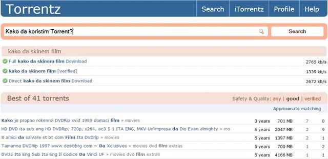 Kako se koristi Torrent - Kako skinuti film sa torrenta i seriju - skidanje filmova