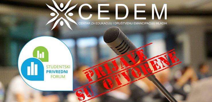CEDEM - Otvorene prijave