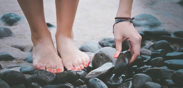 stopala na plaži
