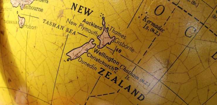 karta Novog Zelanda