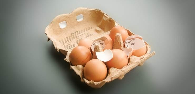 karton polomljenih jaja