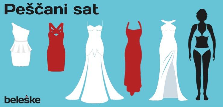 idealne haljine za telo u obliku peščanog sata