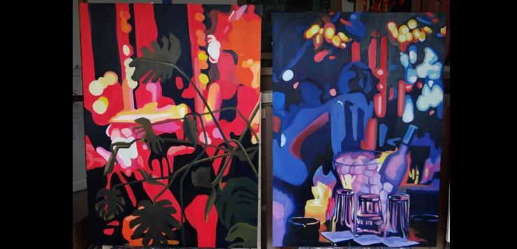Fakultet primenjenih umetnosti - izložba primenjeno slikarstvo