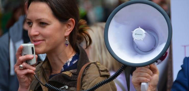 javni govor na protestu