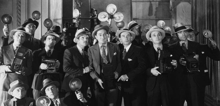 Novinari sa sredina XX veka - stara fotografija