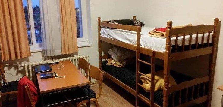 Studentska soba u domu Žarko Marinović - krevet na sprat