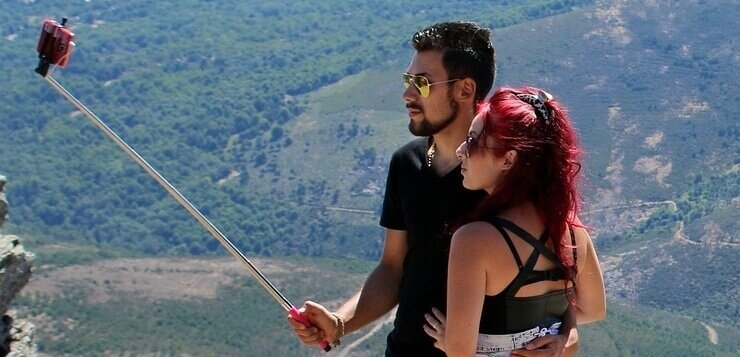 Par koji se slika slefi štapom