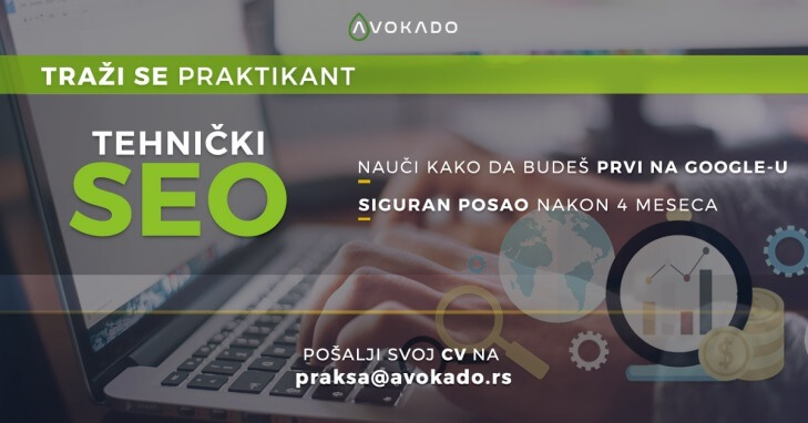 Praksa za tehnički SEO u Avokado agenciji za digitalni marketing