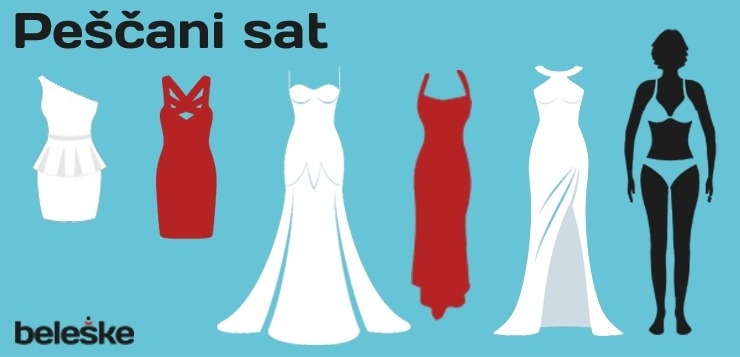 Pescani sat oblik tela za maturske haljine