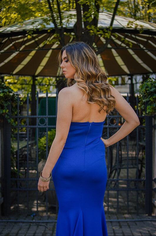 Aduti duga plava maturska haljina ledja