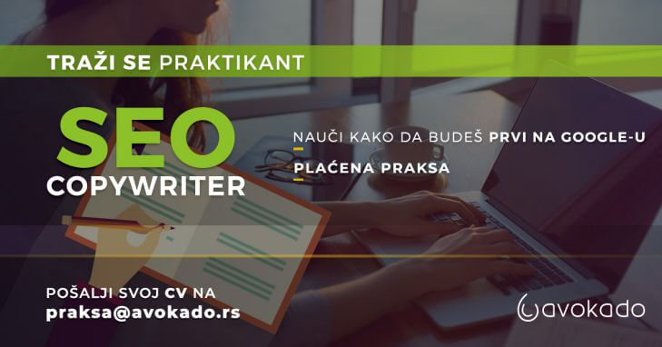 SEO copywriter praksa - Avokado agencija za digitalni marketing