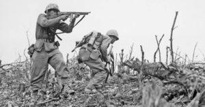 Vojnici se bore tokom Drugog svetskog rata