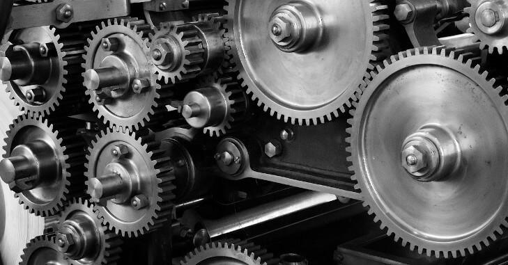 Fotografija industrijske mašine