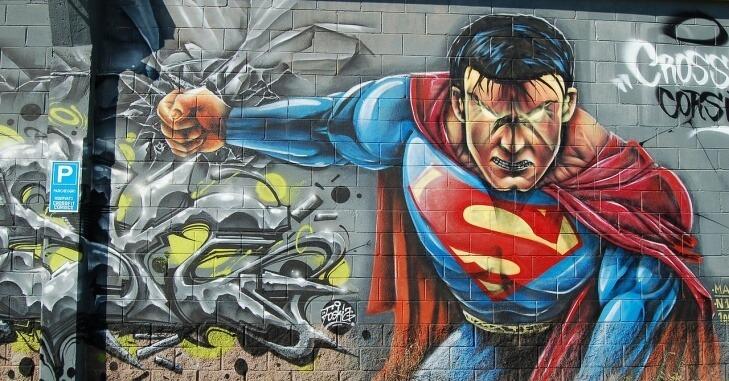 Ilustratvna fotografija supermena