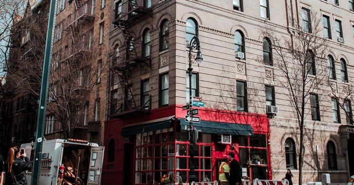 Zgrada u čijem se prizemlju nalazi kafić  gde se snimala serija prijatelji